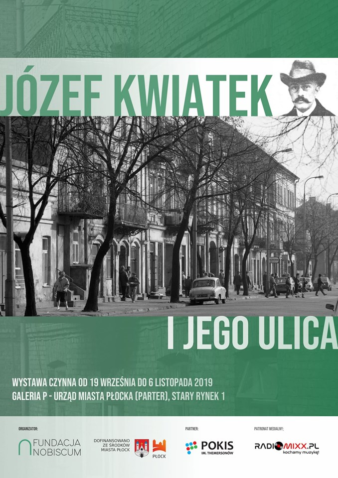 "Poster for the exhibition ""Józef Kwiatek and his street"", JewishPlock.eu"