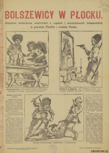 Ulotka propagandowa - bolszewicy w Płocku (źródło: Polona)