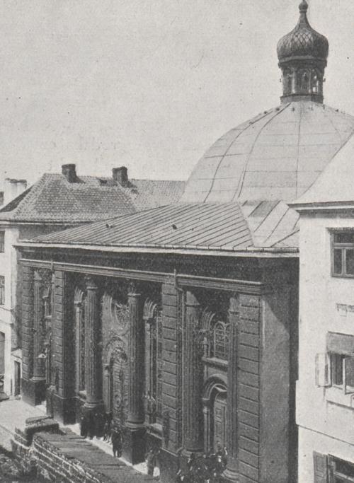Wielka Synagoga w Płocku (źródło: A.J. Nowowiejski, Płock. Monografia historyczna, Płock 1931, s. 680)