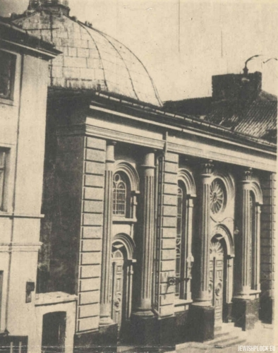 The Great Synagogue in Płock (photo from the private collection of Jakub Guterman)