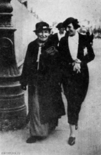 Paulina Altberg z córką Emmą (źródło: Plotzk (Płock). A History of an Ancient Jewish Community in Poland, red. E. Eisenberg, Tel Awiw, 1967 rok)