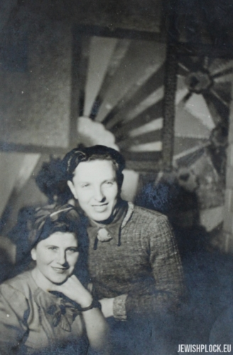 Friends of the Fuks family - Mr. and Mrs. Kunikowski, Płock, 1946