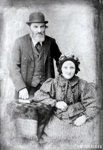 Beniamin Berliner with his wife Krajndla née Topaz, end of the 19th century