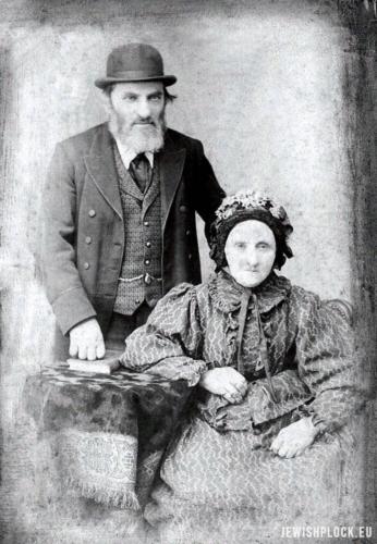 Beniamin Berliner z żoną Krajndlą z domu Topaz, koniec XIX wieku