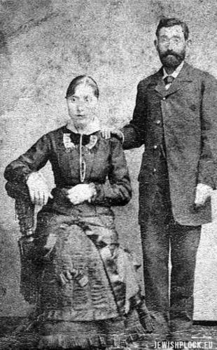 Symcha Berliner z mężem Abrahamem Fassem
