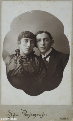 Tauba Bomzon nee Żeleźniak and Lejb Bomzon (probably a wedding photo)