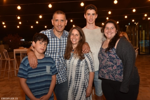 The family of Ze'ev Bomzon, Arieh's son. In the photo, from the left: Eyal, Ze'ev, Noga, Amir and Tomer. Israel, 2019