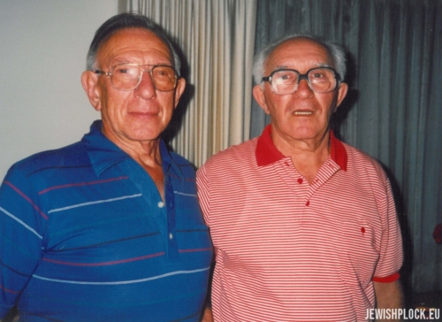 Sam Brygart and Izrael Abram (Julius) Bomzon, Los Angeles, USA June 1989