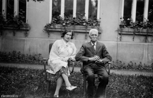 Celina Kempner i Ignacy Daszyński w Bystrej latem 1936 roku (źródło: Narodowe Archiwum Cyfrowe)