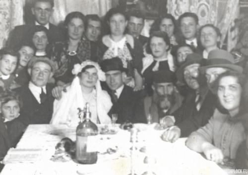 Fotografia weselna Moszka Krasiewicza i Ejdli Iski Pasek, Płock, 1939 rok