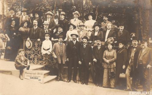 Zelik Wajcman z uczestnikami Kongresu Syjonistycznego w Karlsbadzie, lata 20. XX wieku
