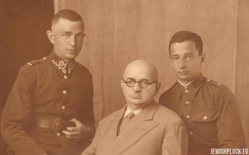 Izydor Wajcman z synami Józefem i Markiem, ok. 1930 roku