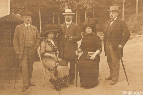 Tauba Iska Żurkowska, Jakub Puszet i Izydor Wajcman w Marienbadzie, 1912 rok