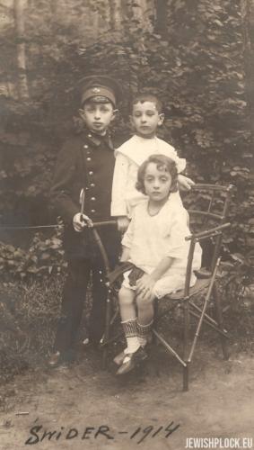 Józef, Marek i Estera Wajcman, Świder 1914 rok