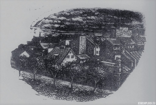 Fiszel Zylberberg, woodcut, In the country (source: www.zchor.org)