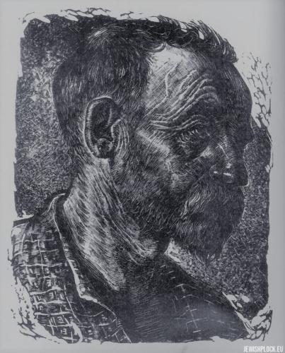 Fiszel Zylberberg, drzeworyt, Portret mężczyzny (źródło: www.zchor.org)