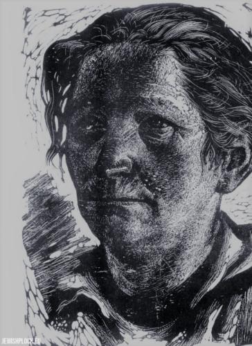 Fiszel Zylberberg, drzeworyt, Portret kobiety (źródło: www.zchor.org)
