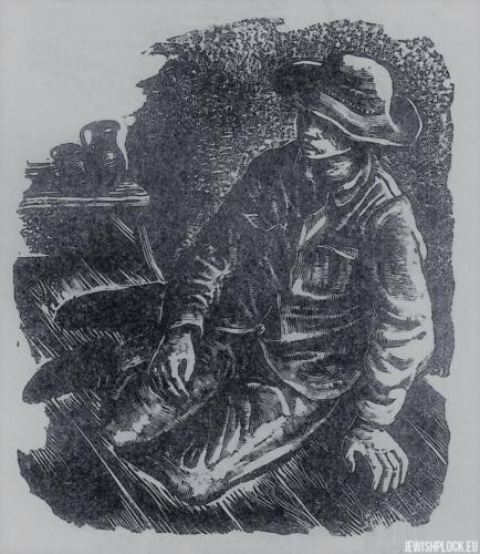 Fiszel Zylberberg, drzeworyt, Chłopiec (źródło: www.zchor.org)