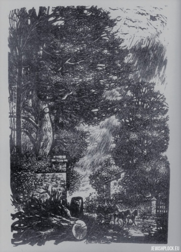 Fiszel Zylberberg, drzeworyt, Drzewa (źródło: www.zchor.org)