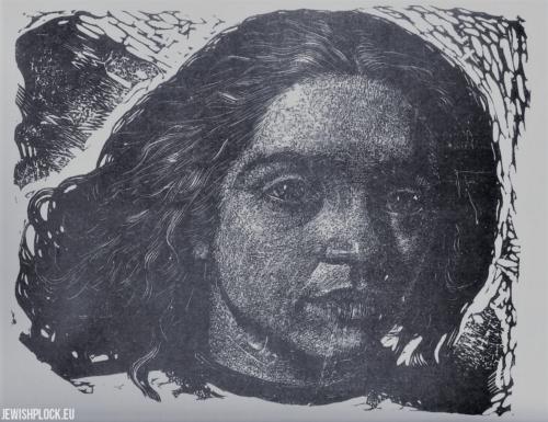 Fiszel Zylberberg, drzeworyt, Dziewczyna (źródło: www.zchor.org)
