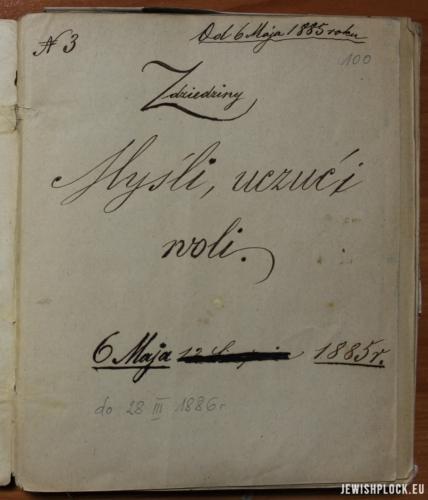Dziennik Adama Adolfa Goldberga (Archiwum Akt Nowych, Zbiór akt osobowych działaczy ruchu robotniczego, sygn. 16266)