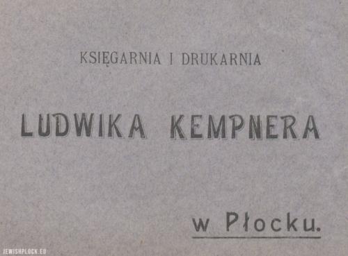 Koperta firmowa księgarni Ludwika Kempnera przy ulicy Grodzkiej 14