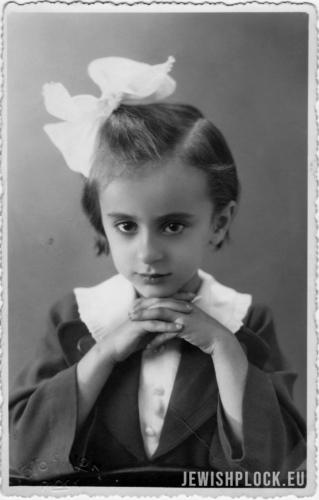 Gabrysia Holcman, 16.09.1936 r., fot. A. Watman