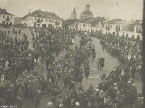 The funeral of Jakub Zysman in Klimontów, 1926