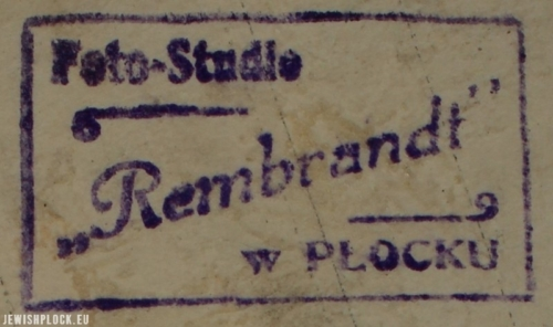 Stamp of Samuel Józef Ostrower's photographic studio