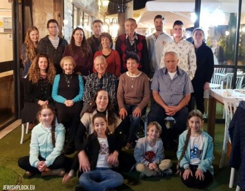 Izrael, 2019 rok. Spotkanie potomków Mortki Koryto (z Izraela) i Ruchli Koryto (z Izraela), z potomkami Etki Koryto (ze Stanów Zjednoczonych).