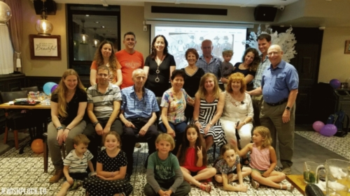 A reunion in Israel, 2017, of descendants of Mortka Koryto (from Israel), Ruchla Koryto (from Israel) and of Beniamin Koryto (from Israel), with descendants of Moszek Koryto (from the USA)