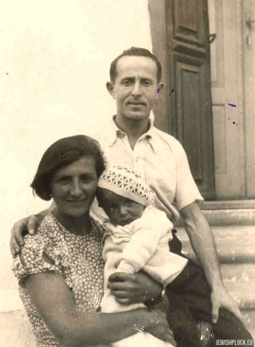 The Guterman family: Symcha, Ewa née Alterowicz and Kuba, 1935