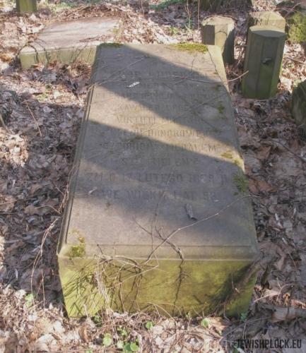 Grób Filipa Lubelskiego na cmentarzu przy ul. Okopowej w Warszawie, źródło: cemetery.jewish.org.pl