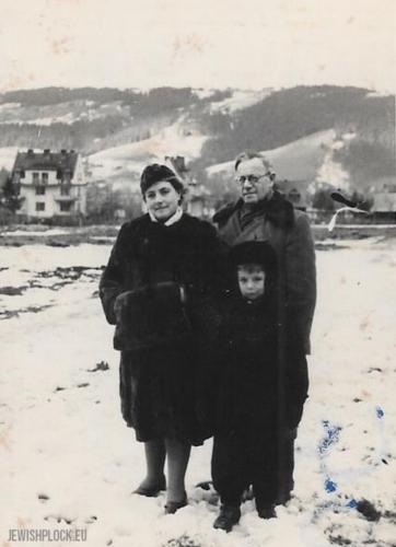 Matias Marienstras z żoną Kazimierą z Butkiewiczów i synem Grzegorzem Januszem w Zakopanem, przed 1952 rokiem