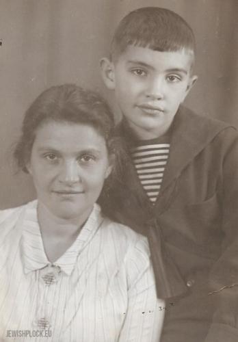 Niuta – siostra Kazimiery Marienstras, z synem Feliksem