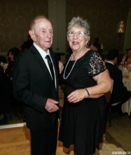 Jack (Icek) Nierób i Sandra Brygart Rodriguez (fotografia wykonana podczas uroczystości z okazji 95. urodzin Jacka)