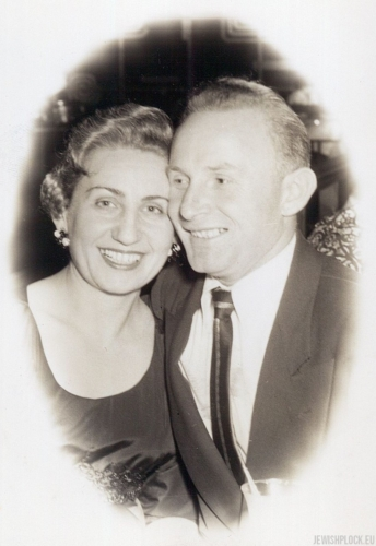 Jack (Icek) Nierób with his wife Kate, after 1954