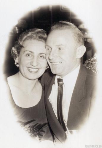 Jack (Icek) Nierób z żoną Kate, po 1954 roku