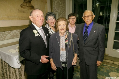 Jack (Icek) Nierób with the Brygart family: Sam, Rita, Sandra and Leslie (photo taken during Jack's 90th birthday celebration)