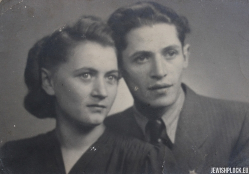 Bela i Motek (?), Płock, 1945 rok