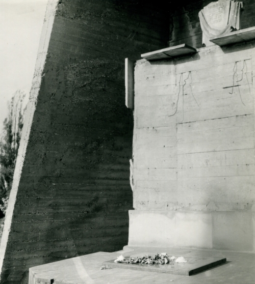 Fragment of the monument designed by artist Lucjan Kot on the Jewish cemetery at Mickiewicza St. (from the collection of Lucjan Kot)