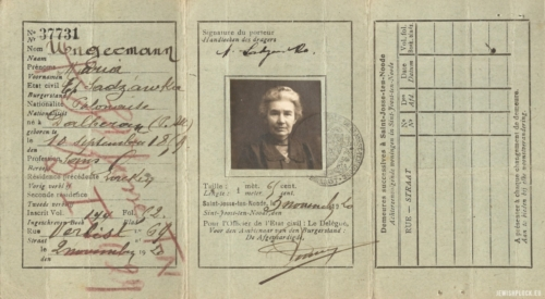 Maria Sadzawka's identity document