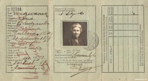 Dokument tożsamości Marii Sadzawki