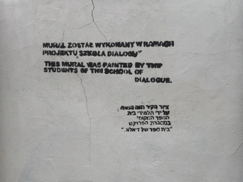 Mural commemorating the old Jewish cemetery in Płock (photo by P. Dąbrowski)