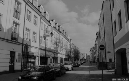 Ulica Synagogalna w Płocku obecnie, fot. Piotr Dąbrowski