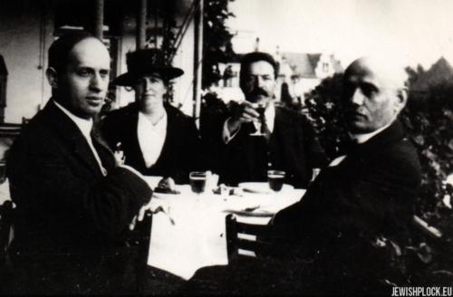Od prawej: Abraham Gassyd, Abram Szeraszew (Szereszewski), Sara (Helena) Szeraszew (Szereszewska) po mężu Gassyd i Moses Gassyd (ich syn), Rapperswil, przed 1914 rokiem
