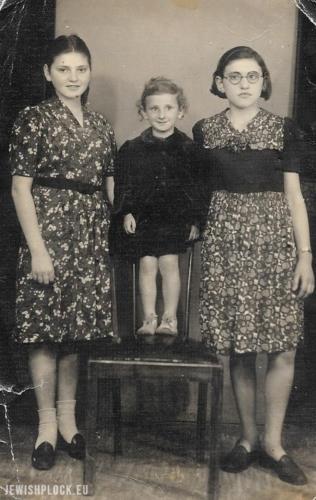 Siostry Nisson (od lewej do prawej): Zosia, Chana i Mania